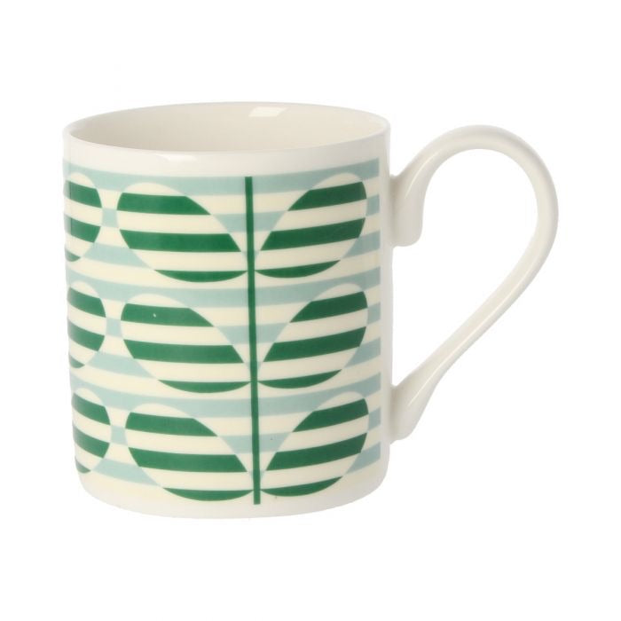 Orla Kiely Stripe Stem Green Mug, 300ML