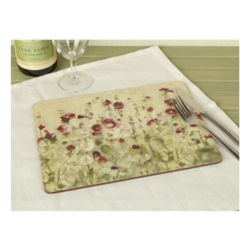 Wild Field Poppies Tile Pack Of 6 Medium Placemats