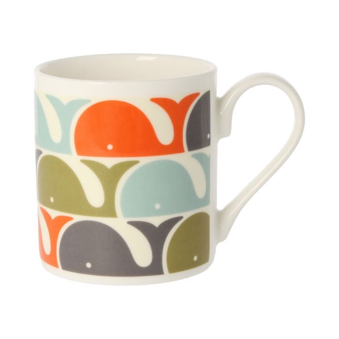 Orla Kiely Whale Orange Mug, 300ML