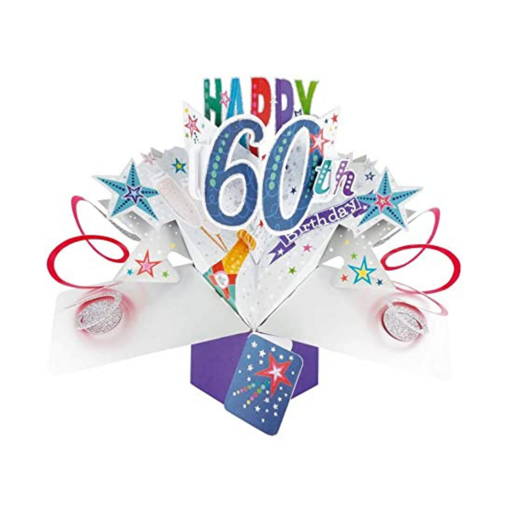 60th Birthday 3D Pop Up Card