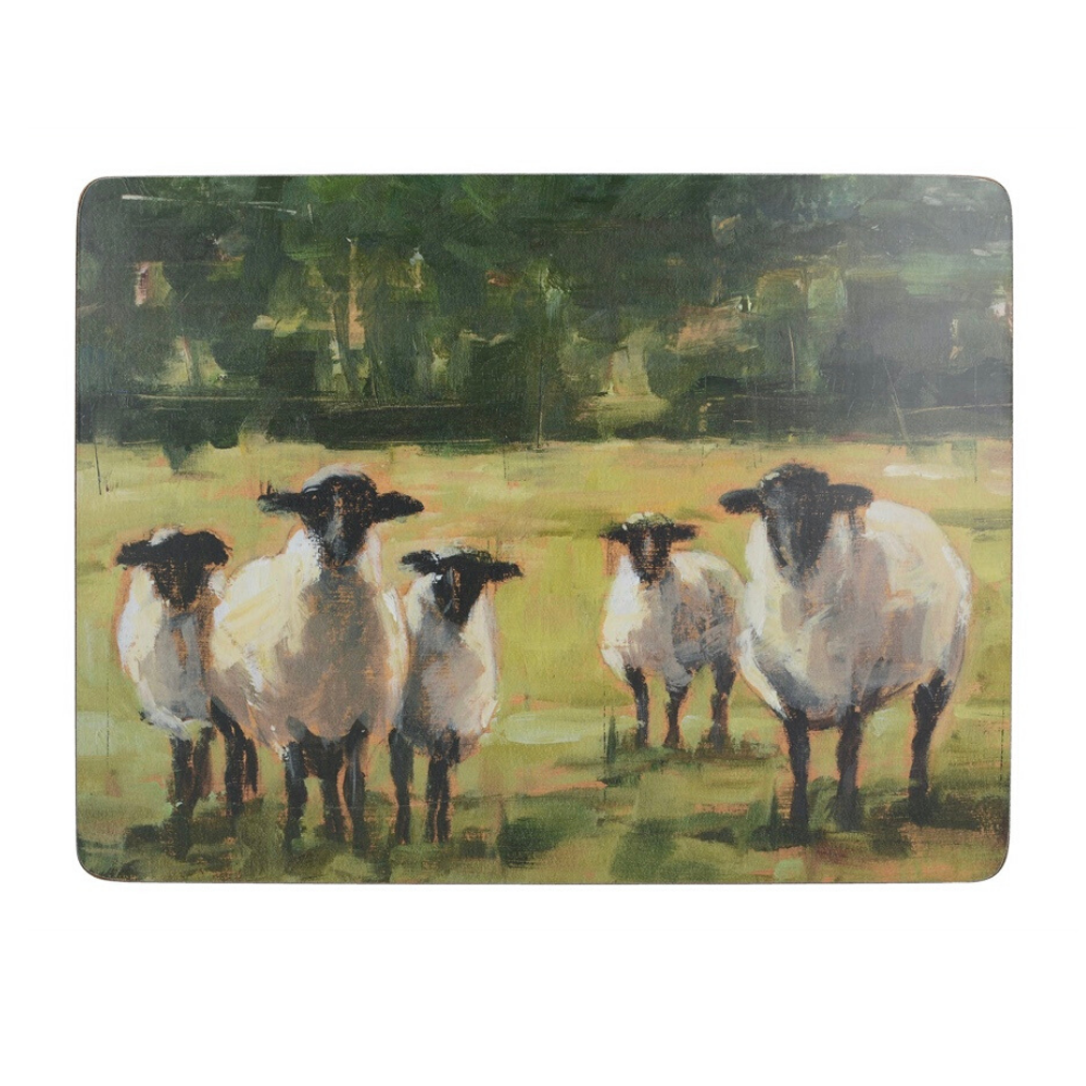 Sheep Family Tile Pack Of 6 Medium Placemats