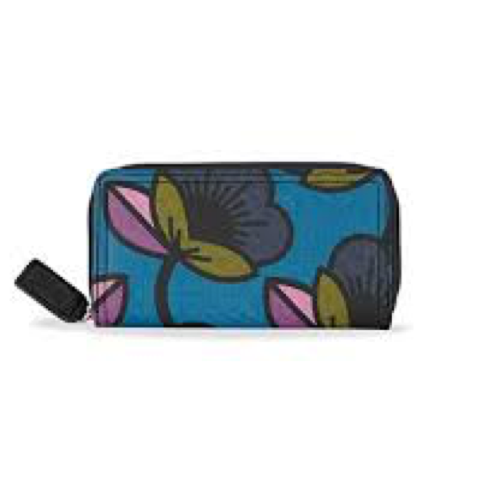 Passion Flower Print- Forget Ne Not Wallet, Large