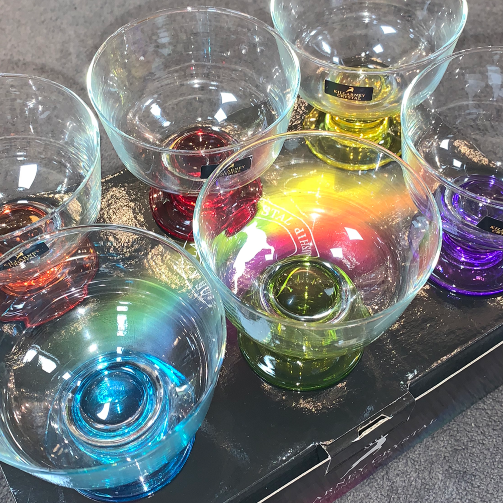 Coloured Dessert Bowls x6