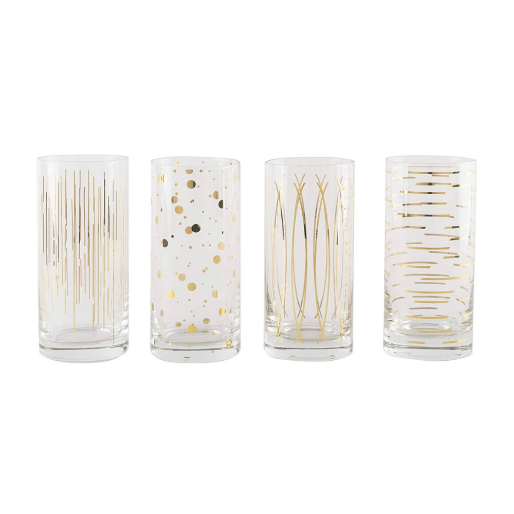 Cheers Gold Highballs - Set of 4