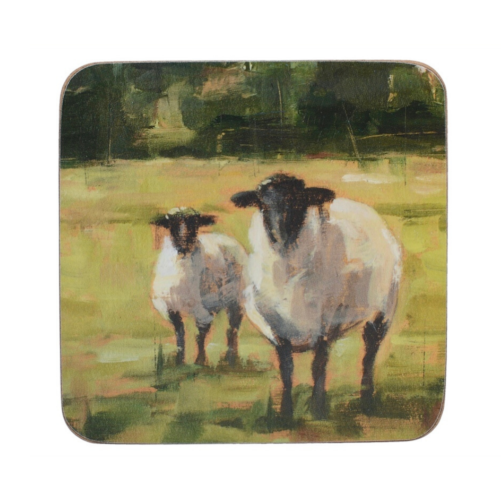 Sheep Family Tile Pack Of 6 Premium Coasters