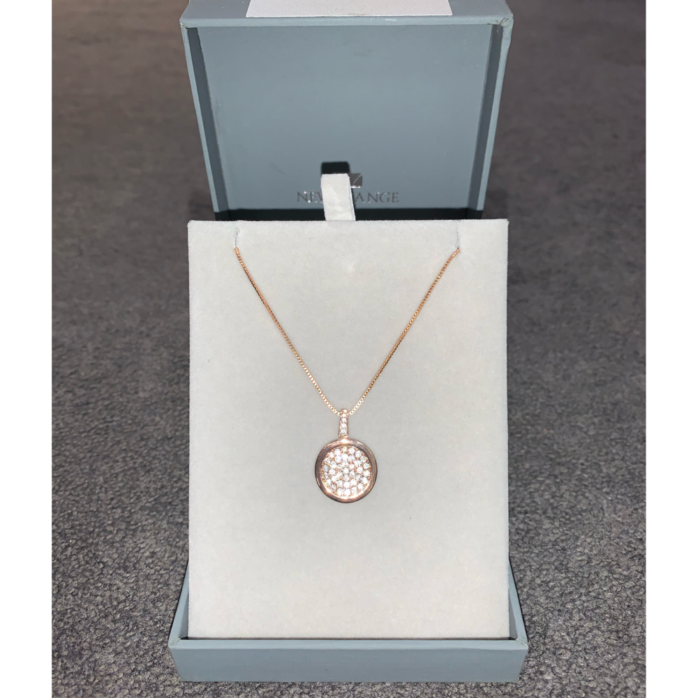Rose Gold Diamante Necklace