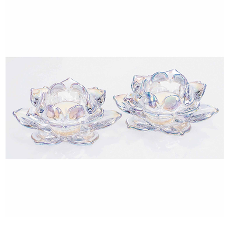 Unicorn Lustre Lotus T-Light Pair