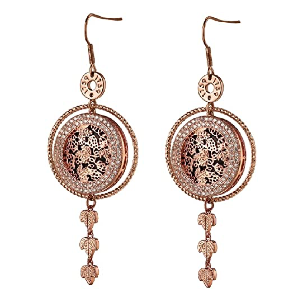 Guinness Rose Goldplated Earrings Hops Design