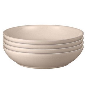 Intro 4 Piece Set of Pasta Bowls Warm Taupe