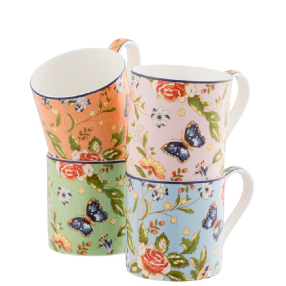 Cottage Garden Mugs - Set of 4