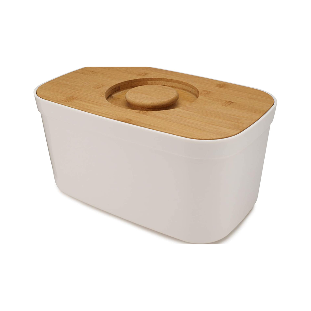 Bread Bin With Bamboo Cutting Board
