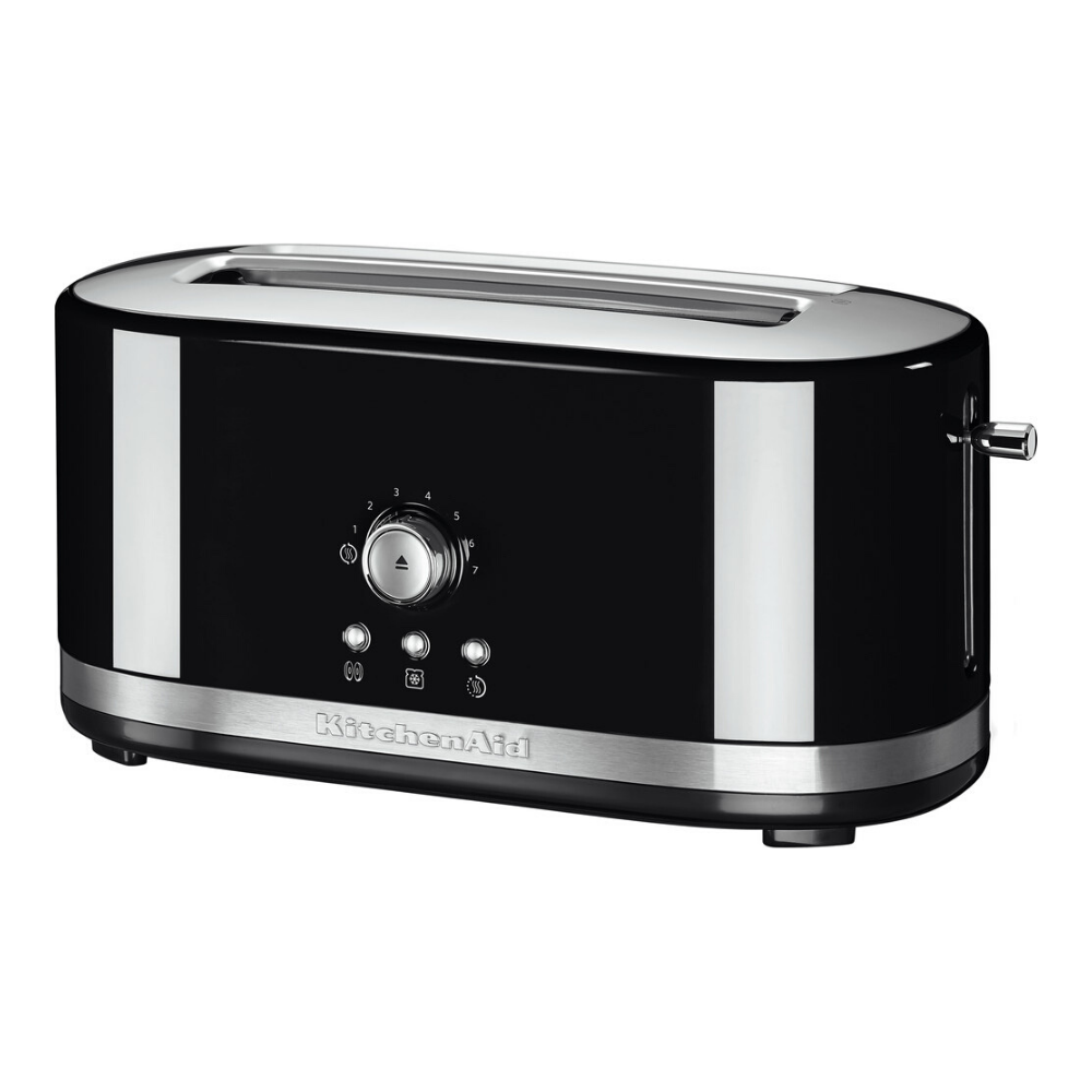 Long Slot Black Toaster