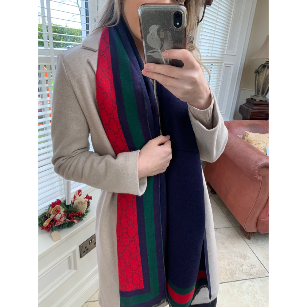 Navy & Red Scarf