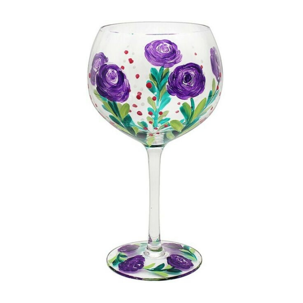 Gin Glass - Purple Rose