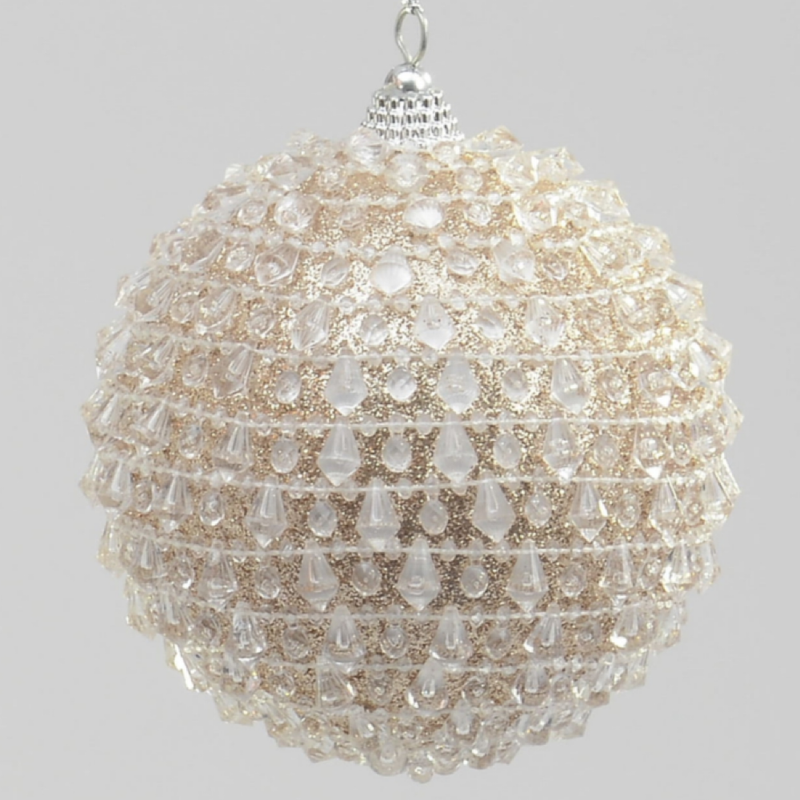 Bead Ball Champagne Bauble