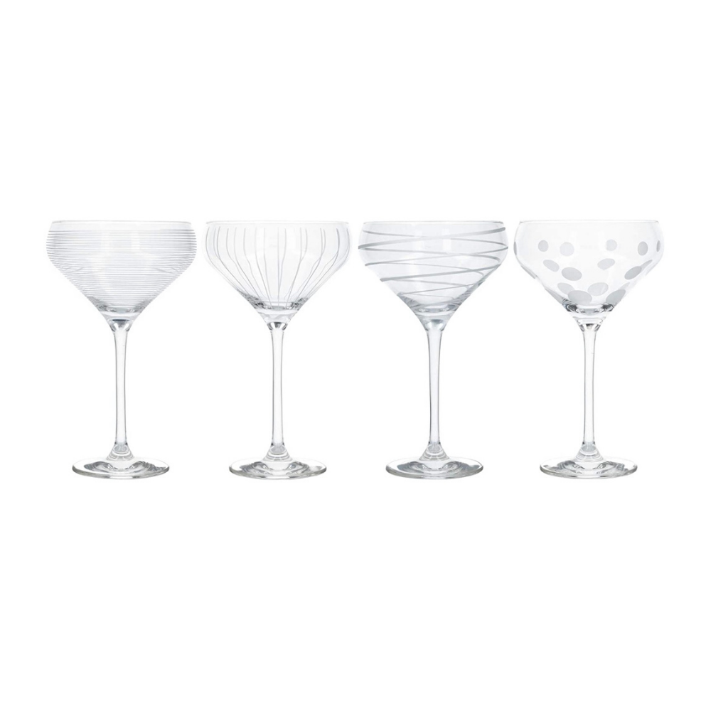 Cheers Champagne Saucers - Set of 4