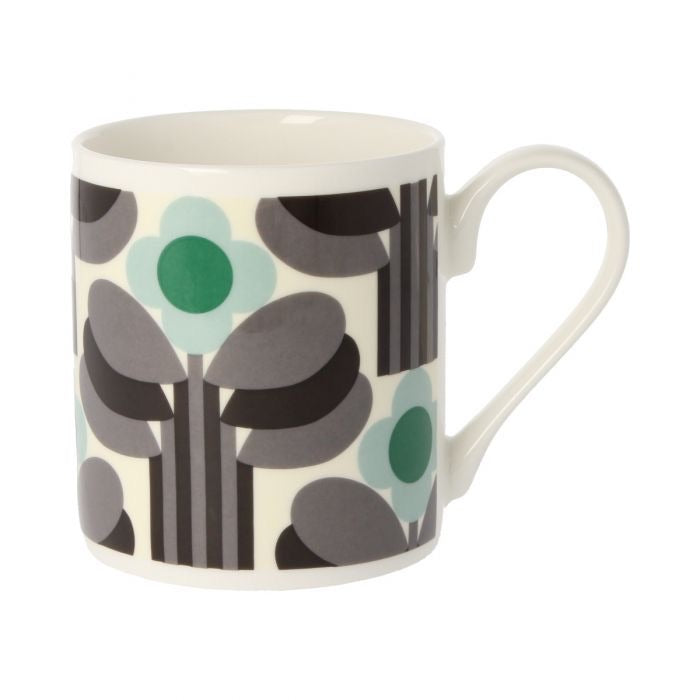 Orla Kiely Art Deco Green Mug, 300ML