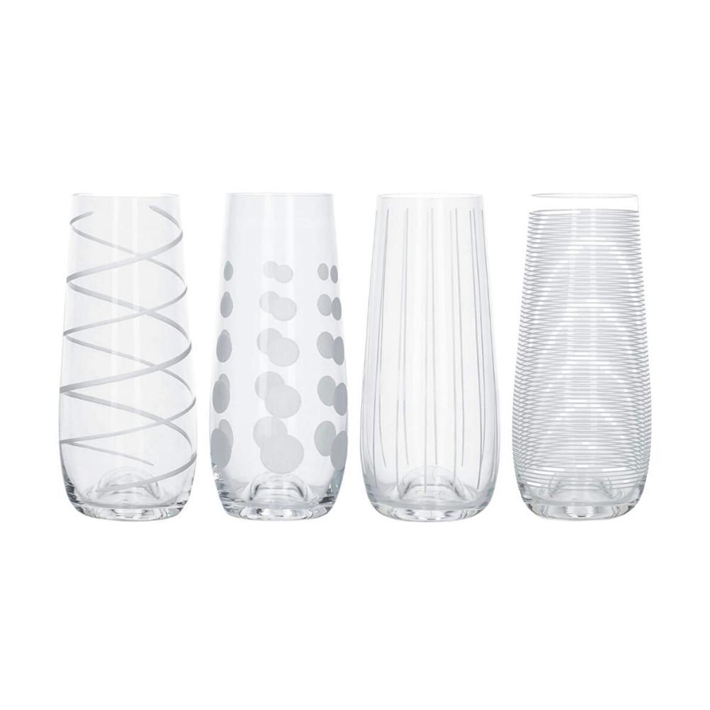 Cheers Stemless Flutes - Set of 4