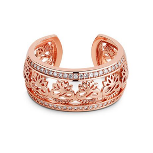 Lotus Flower Ring, Rose Gold