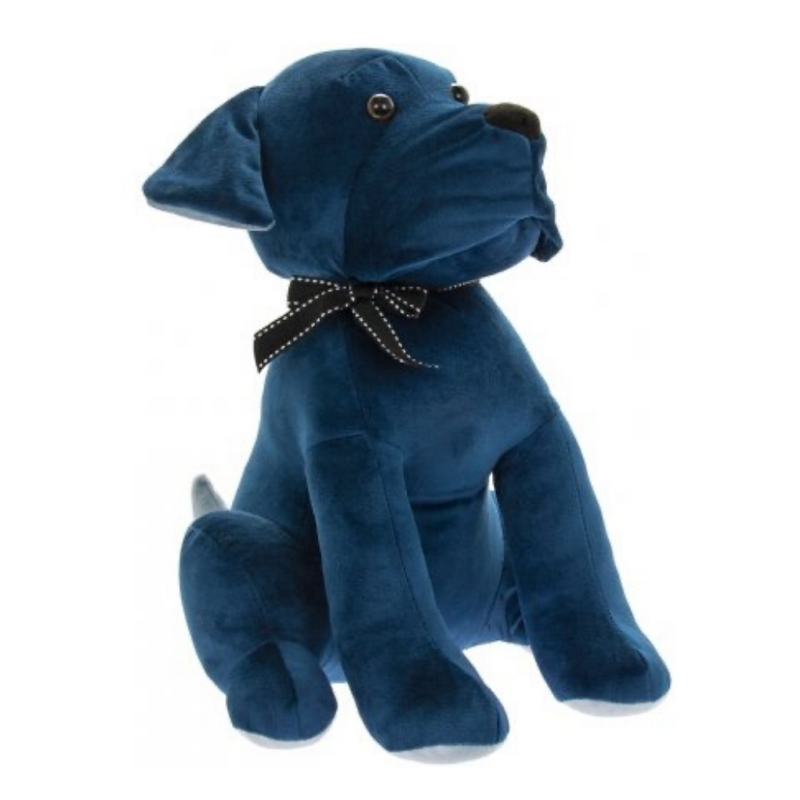 Blue Velvet Dog Doorstop