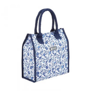 4 Litre Blue Flower Lunch / Snack Cool Bag