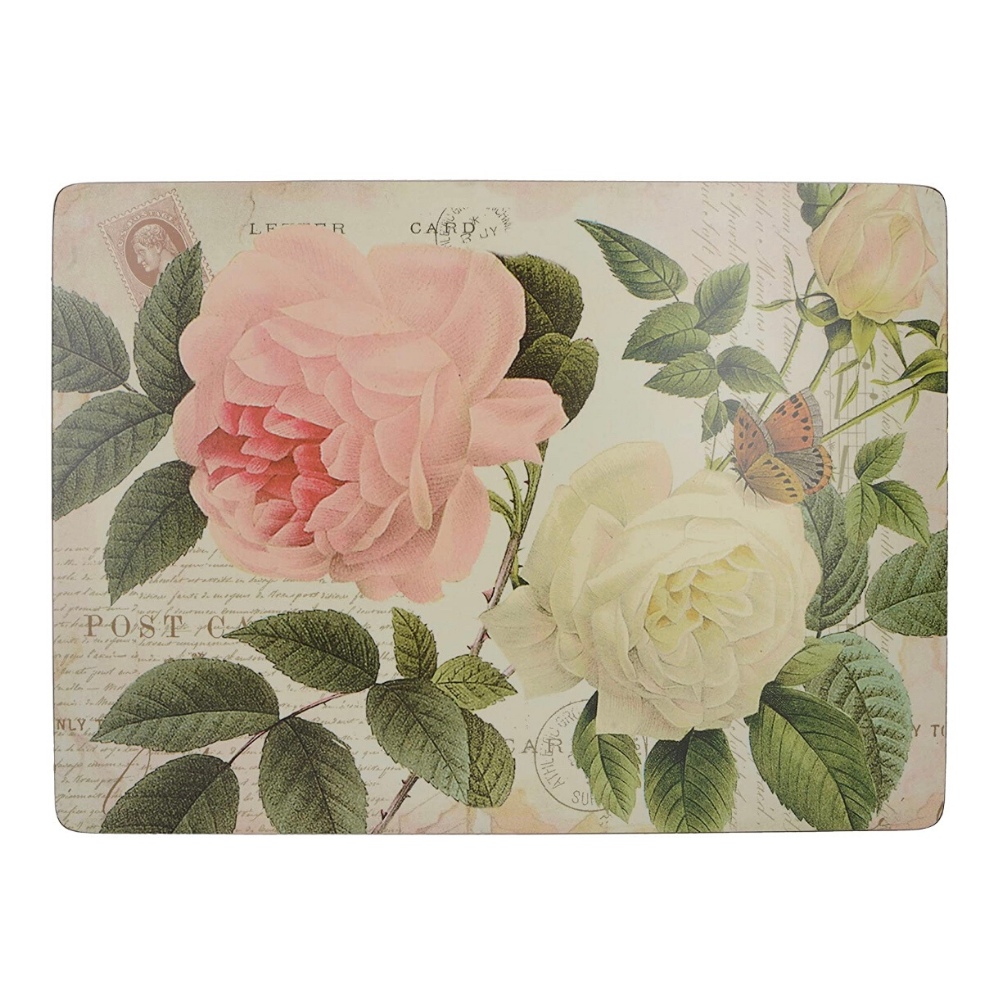 Rose Tile Pack Of 4 Large Placemats
