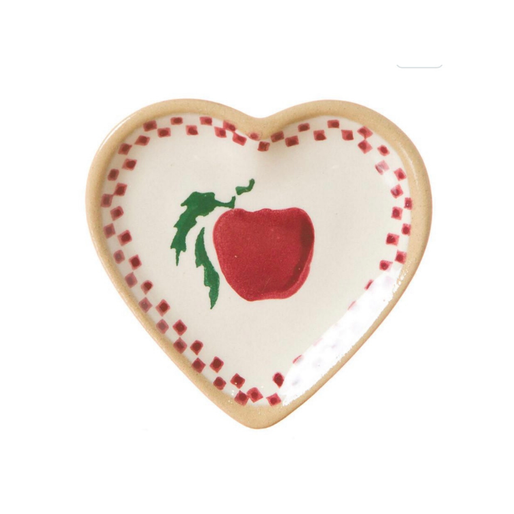 Tiny Heart Plate Apple