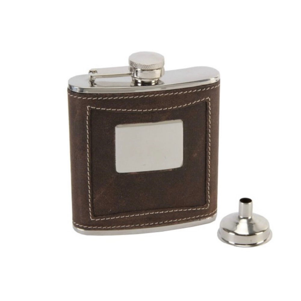 Brown Leather Hip Flask