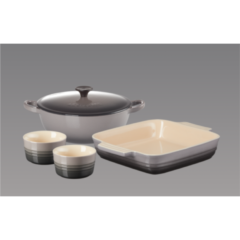 Le Creuset Cast Iron and Stoneware Set - Flint