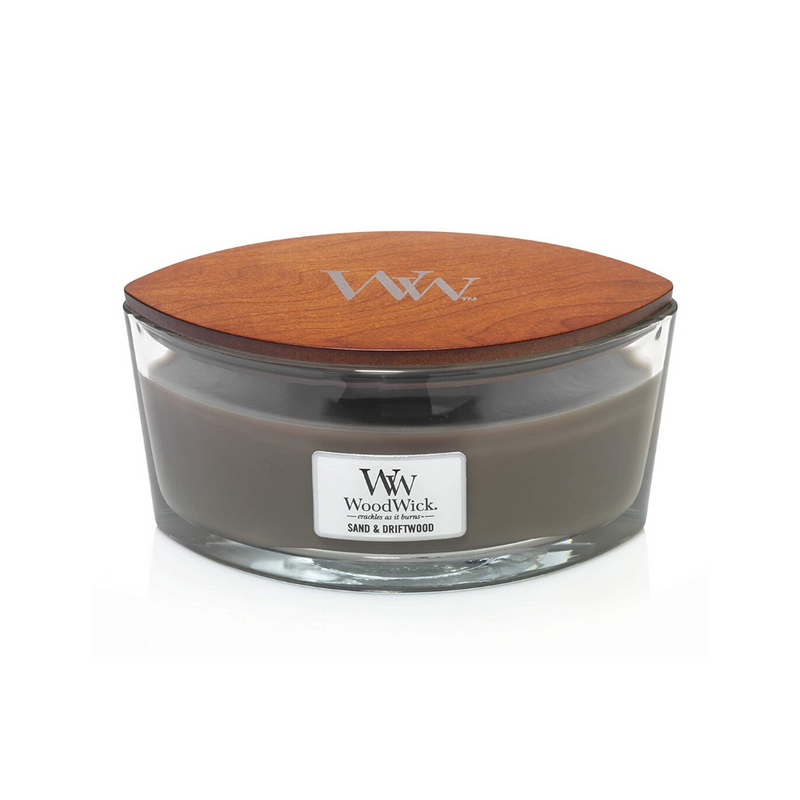 Woodwick 16oz candle sand and driftwood