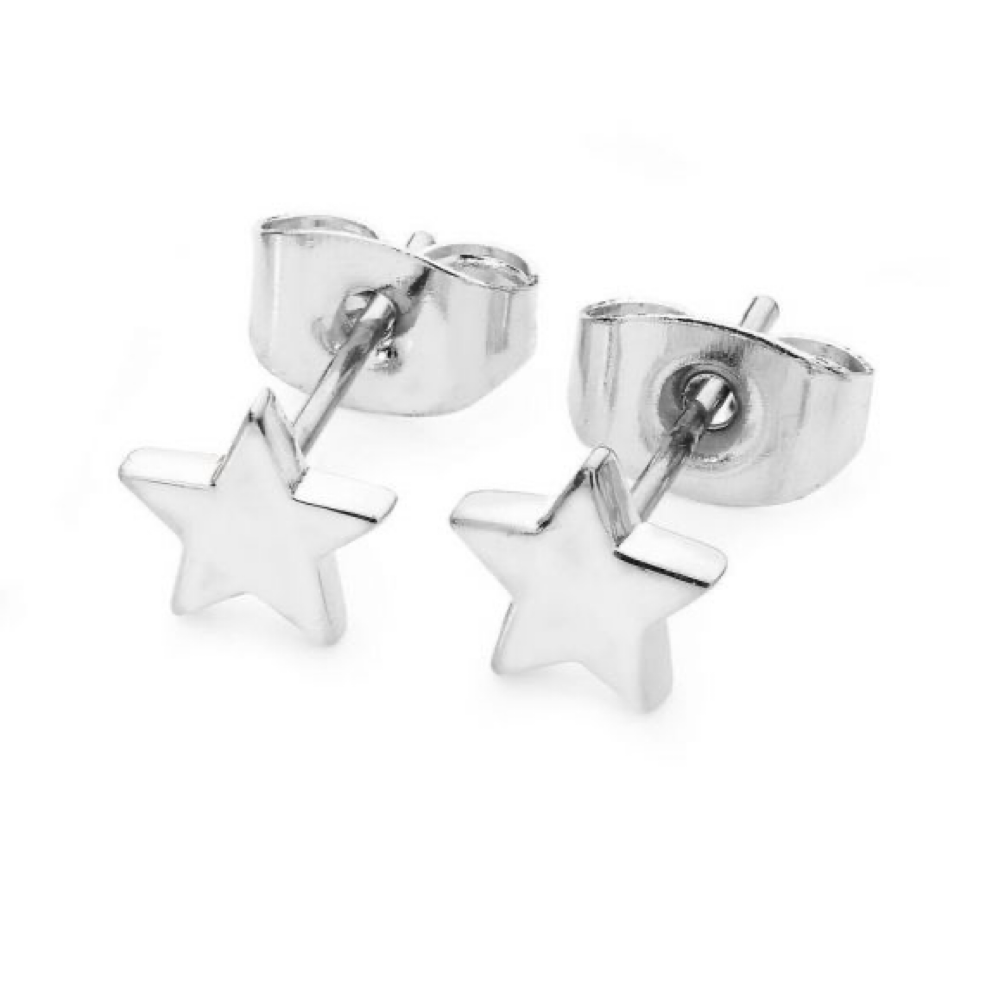 Star Mini Stud Earrings Silver