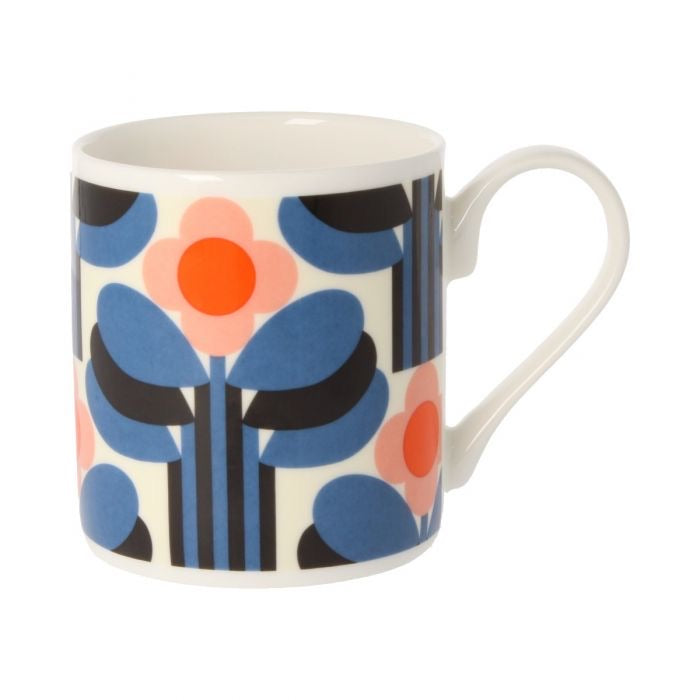 Orla Kiely Art Deco Orange Mug, 300ML