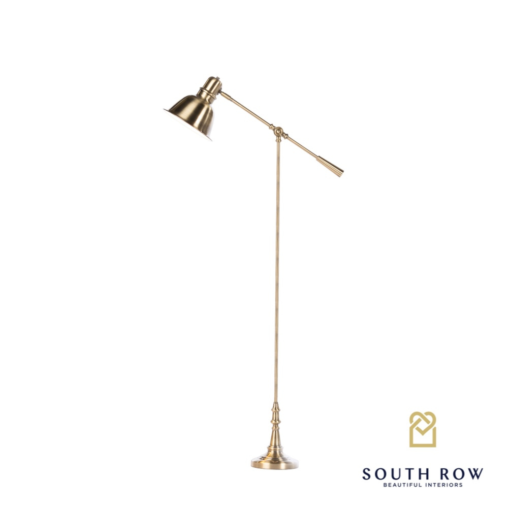 Carmen Floor/Reading Lamp Brushed Brass 162cm