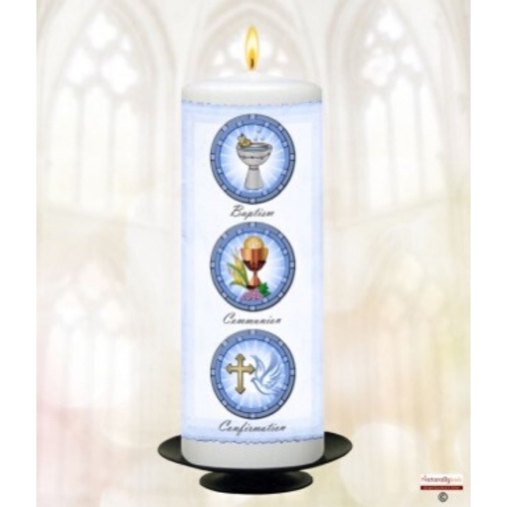 Boy's 9 Inch Christening Candle