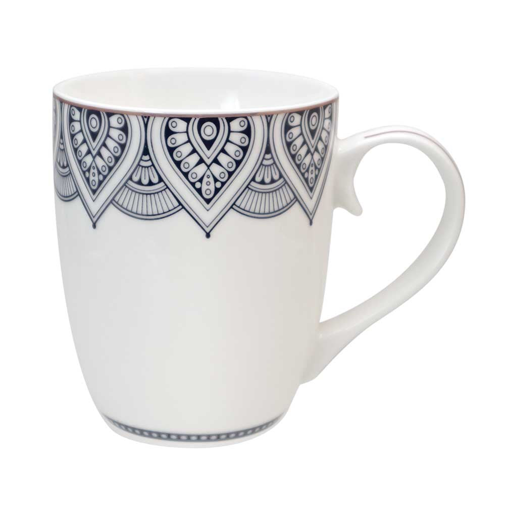 Mandala Set 6 Bone China Mugs