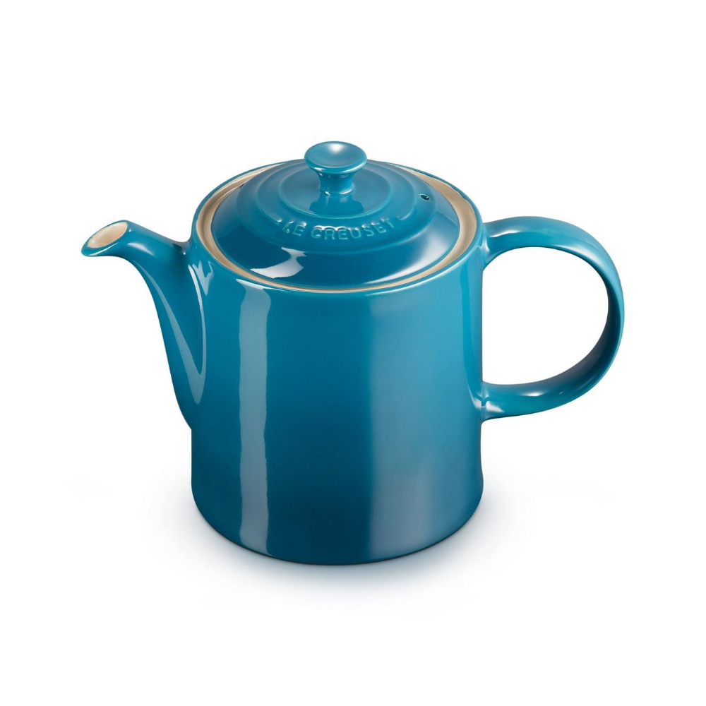 Stoneware Grand Teapot, Deep Teal
