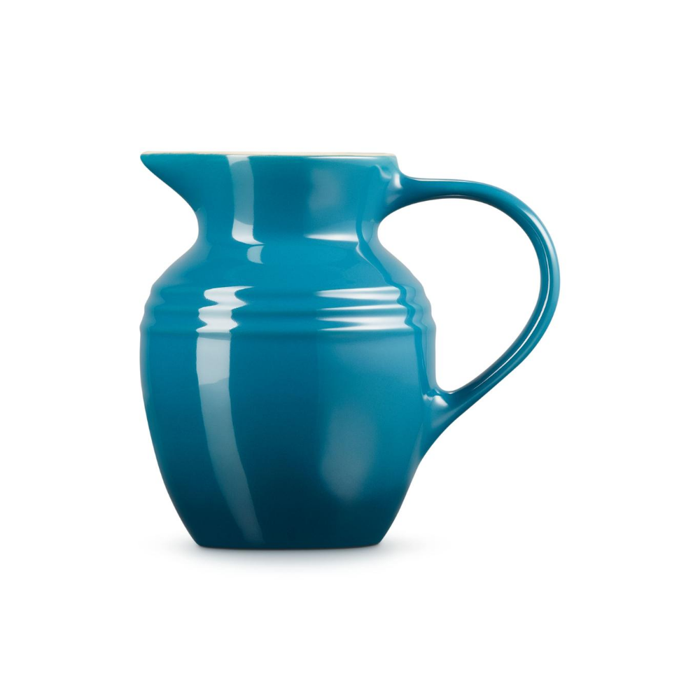 Stoneware Breakfast Jug, Deep Teal