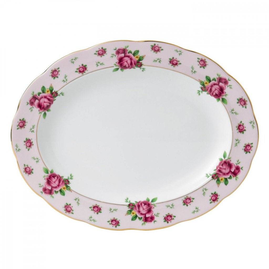 New Country Roses Vintage Oval Platter