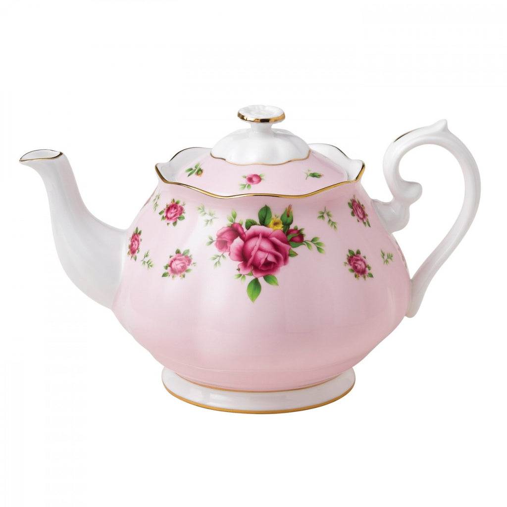 New Country Roses Pink Vintage Teapot