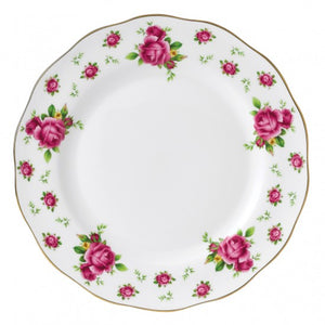 New Country Roses White Vintage Plate 27CM