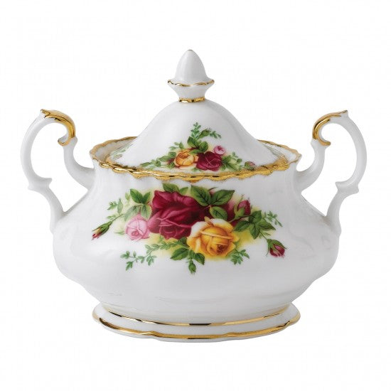Old Country Roses Covered Sugar Bowl