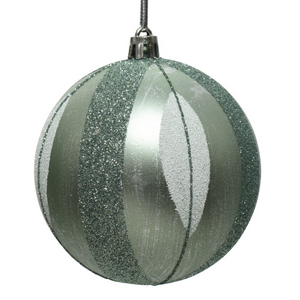 Sage Green Leaf Christmas Bauble