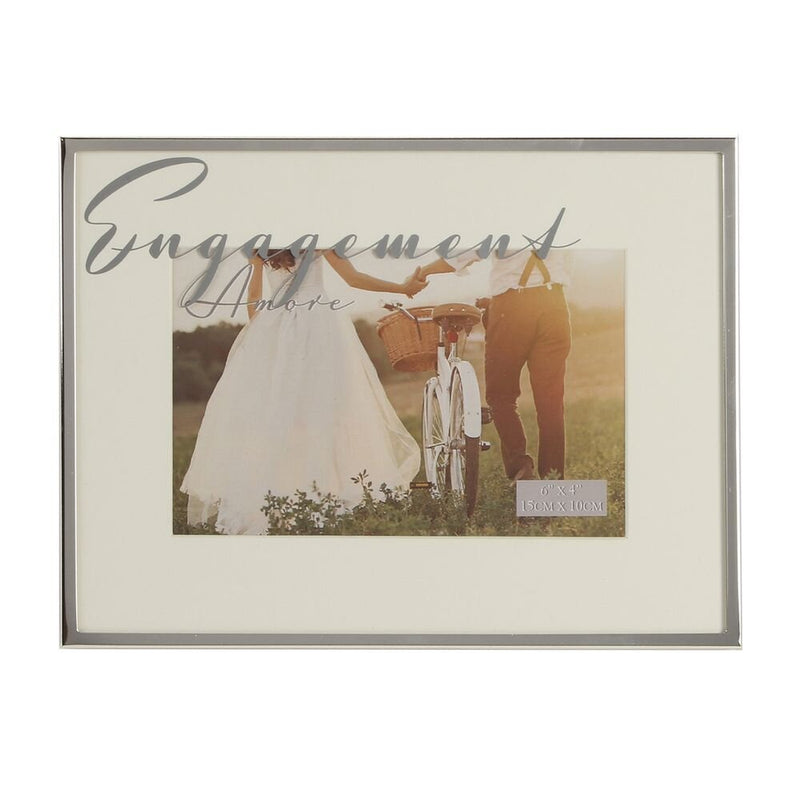 "6"" X 4"" - Amore Silverplated Engagement Frame"