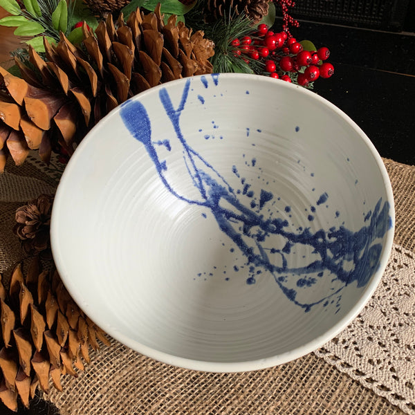 Blue Avery Serving Bowl