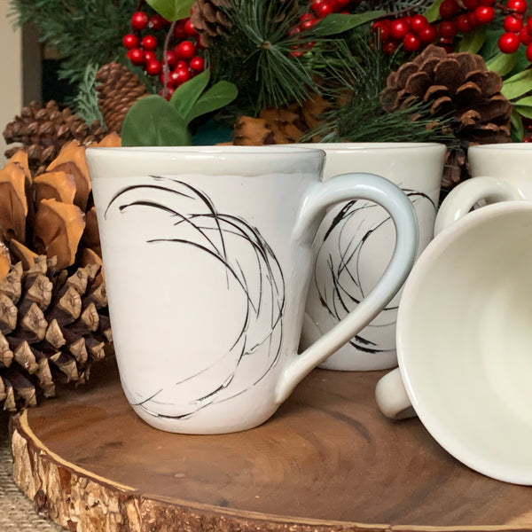 Wave Mugs - Soft Clear (Set of 4)