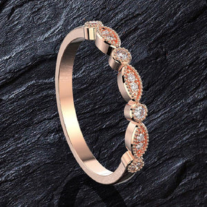 Hellojewelr Rose Gold 5.0 Carat Oval Cut Wedding Set
