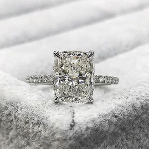 Hellojewelr Sterling Silver 3.0 Carat Radiant Cut Engagement Ring