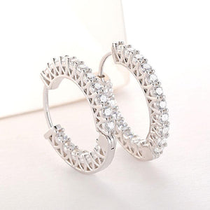 Hellojewelr Sterling Silver Classic Hoop Earrings