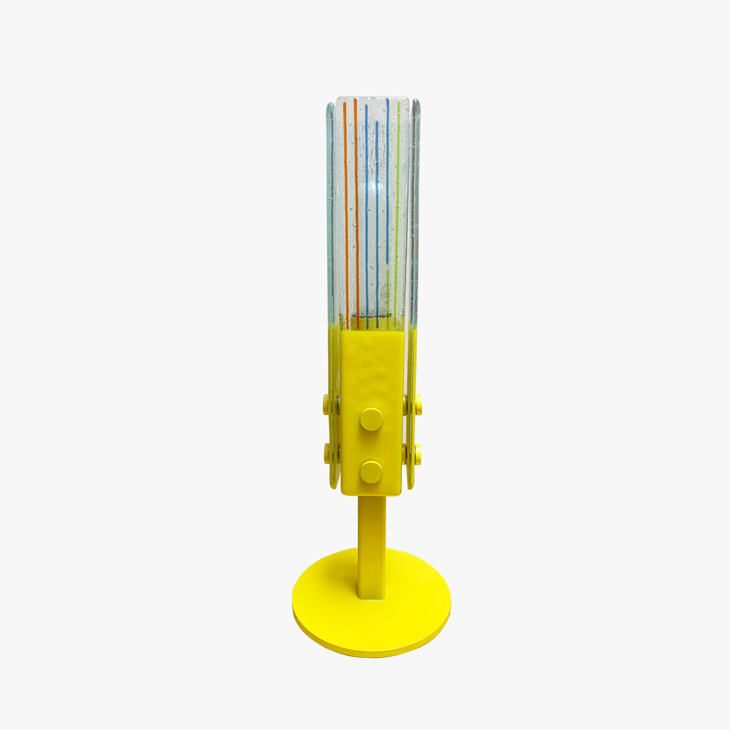 Glass lamp, Yellow
