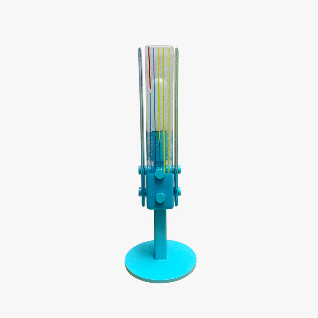 Glass lamp, Blue